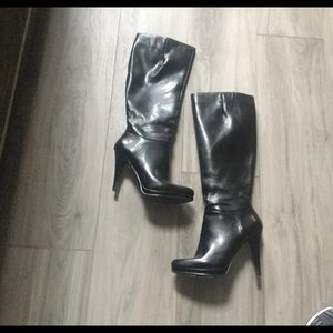 Nine West Black Platform Boots